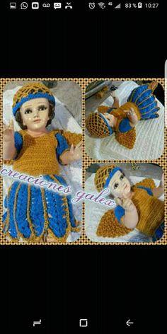 Baby Jesus, Crochet Baby, Christmas, Dresses, Flower, Crochet Dresses, Dresses For Babies, Needlepoint, Xmas