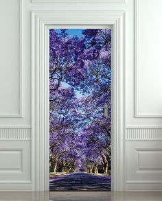 Door STICKER garden stylish plants mural decole film self-adhesive poster cm) / sold by Pulaton. Shop more products from Pulaton on Storenvy, the home of independent small businesses all over the world. Interior Walls, Home Interior, Interior Design, 3d Foto, Peel And Stick Vinyl, Door Murals, Diy Bedroom Decor, Home Decor, Design Bedroom
