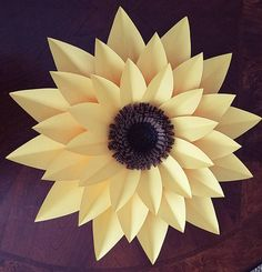 PDF Paper Flower Template, Digital only,  The Sunflower, Original Design By Annie Rose