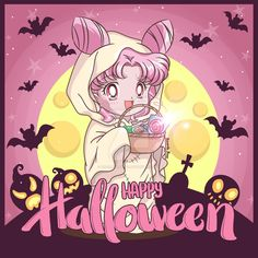 Fan Art dedicated to Chibiusa Chibiusa Happy Halloween Arte Sailor Moon, Sailor Moon Fan Art, Sailor Moon Character, Sailor Chibi Moon, Sailor Saturn, Sailor Moon Crystal, Sailor Venus, Sailor Mars, Sailor Moon Halloween