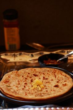 cheese paratha - tasty and easy to make paratha recipe with cheese filling.  It can be served as a snack