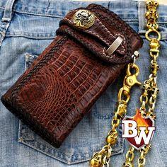 MOPAR Skull Men/'s Wallet Black Leather Custom Money /& Card Holder