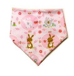 Pink Bunnies Bibdana  springtime easter by LivRichBoutique on Etsy  Adorable sweet bunny rabbits perfect for Easter or Springtime! These bibdanas are great for your teething or drooling baby or even as a fashion statement/accessory!