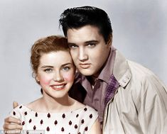 """Dolores Hart and Elvis Presley in """"King Creole"""" Elvis Presley Videos, Elvis Presley Movies, Elvis Presley Photos, Old Hollywood Glamour, Classic Hollywood, Classic Actresses, Actors & Actresses, Dolores Hart, Four Movie"""