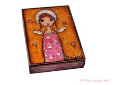 Angel in Wonderland  ACEO Giclee print mounted on by FlorLarios, $10.00