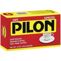 Cafe Pilon Cuban Espresso Ground Coffee 10oz (6-Pack)