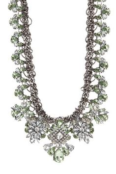 Statement Crystal Flower Bib Necklace by t+j Designs on @HauteLook