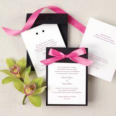 Color Duet Wedding Invitation   #exclusivelyweddings   #weddinginvitations