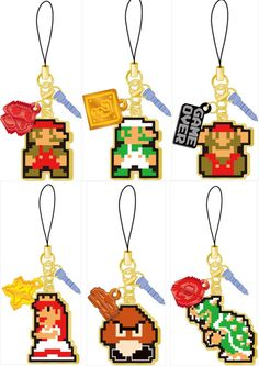 Mario cell phone plug charms                        FOLLOW ME FOR MORE MARIO AND FRIENDS