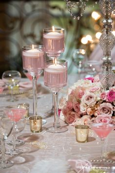 Blush Hues and Romantic Details for this Glamorous Southern Wedding Wedding Table Centerpieces, Wedding Reception Decorations, Wedding Colors, Wedding Flowers, Floating Candles, Quinceanera, Event Decor, Our Wedding, Luxury Wedding