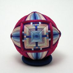woven square temari by ciofaniyogadala on Etsy
