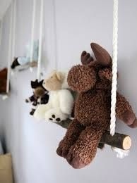 Teddy bear swings