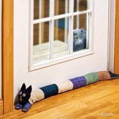 Animals & Pets - Cozy Cat Draft Stopper #home #decor www.loveitsomuch.com