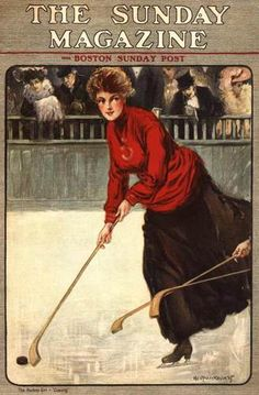 1905,The Sunday Magazine, cover of woman playing hockey.