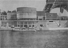 General view of the Belgian Pavilion, designed by Henri Van de Velde, Paris Exposition Universelle, 1937.