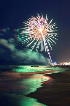 Fireworks on the beach on the fourth...Myrtle Beach, SC
