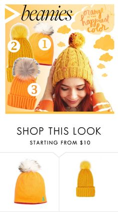 """Hat Head: Pom Pom Beanies"" by stylect ❤ liked on Polyvore featuring Forever 21 and pompombeanies"