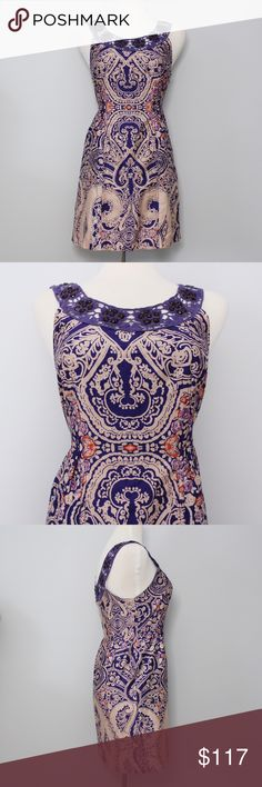 """❗️FLASH SALE❗️ Purple Beaded """"A"""" Line Dress Bust: approx. 16.5"""" Length: approx. 33""""  This chic and classy dress is in great, like new condition! Orange and blue accents / All beading in-tact. A true, statement piece that's perfect for dressing up or down! Pair with your favorite wedges for a breezy, effortless outfit. No holes, stains or imperfections. Comes from a smoke free environment.  Bundles welcome ❌NO trades, please. ⚡️Same/Next day shipping Free People Dresses"""