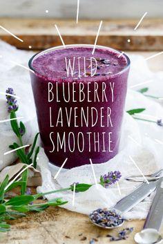 Wild Blueberry Coconut Lavender Smoothie recipe by @runtothekitchen | Vegan | #WildYourSmoothie