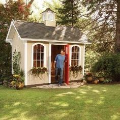 How to Build a Cheap Storage Shed. Would love our next shed to look like this!