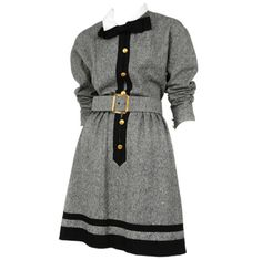 Chanel   From a collection of rare vintage day dresses at http://www.1stdibs.com/fashion/clothing/day-dresses/