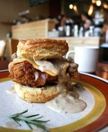 "Portland, OR - Pine State Biscuits - ""The Reggie"" - fried chicken sandwich."