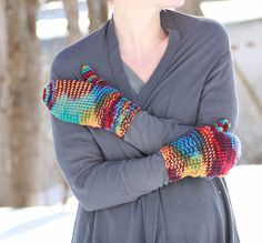 Gina Michele: Beginner Thumb Mittens [knitting pattern] #knit