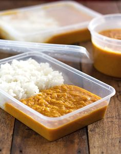 Easy Red Lentil Dhal - carmelizes onion them toasted spices before adding cooked lentils. Use whole can of coconut milk