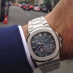 Patek Philippe Nautilus 3712 on this cool fall day in Boston ☁️ Men's Watches, Fine Watches, Cool Watches, Best Watches For Men, Luxury Watches For Men, Audemars Piguet, Breitling, Rolex, Rich Girls