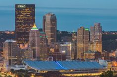 I love the view of #Pittsburgh from Spring Hill. A little different twist on our beautiful skyline! photo by Dave DiCello