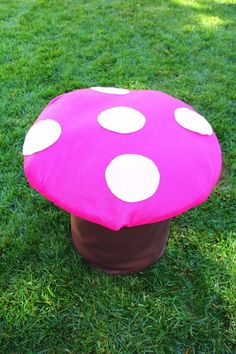 Fairy Party DIY toadstool! Cute idea! Via Karas Party Ideas KarasPartyIdeas.com