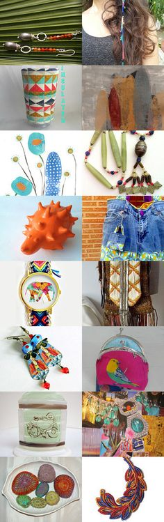 Bright Boho Gifts and Stocking Stuffers by Margie Sarrao on Etsy--Pinned with TreasuryPin.com