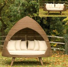 Make your outdoors marvelous this summer with these modern outdoor huts by Alexander Rose. These aptly named patio huts, called Ovo (which translates to
