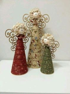 New Ideas Patchwork Christmas Angels Angel Crafts, Diy Christmas Ornaments, Christmas Angels, Homemade Christmas, Rustic Christmas, Christmas Art, Christmas Projects, Beautiful Christmas, Holiday Crafts