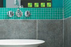 cocinas en color verde con azulejos venecitas antiguas - Buscar con Google