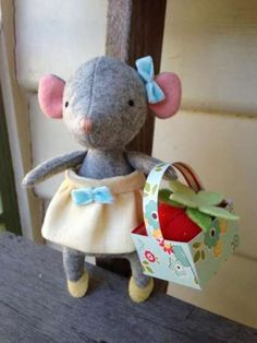 Tiptoes - by May Blossom - Soft Toy Mouse PatternSECONDARY_SECTION$15.00: Fabric Patch: Patchwork Quilting fabrics, Moda fabric, Quilt Supplies,�Patterns