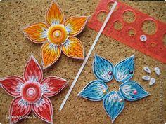 Картина панно рисунок Квиллинг Цветы Бумажные полосы фото 6