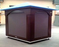 Outdoor Kiosks with Rolldown Security Doors