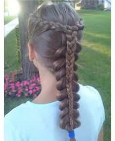 WEBSTA @ annie_nanners1999 - #Hotd: 2 lace french braids combined into one in the back and stacked on top of a pancaked dutch braid ~~fun fact: this is my first stacked braid!~what do you think of this style?~#lrbdodie702schoolhair #alphabetbraidscontest #stackedbraid #lacebraid #dutchbraid #frenchbraid #hair #hairstyles #braid #braidstyles  #tophairfeatures #hairbraidfeatures #cghphotofeature #featureaccount_ #featuremebraids #wowbraids #hairthusiast #featuremejehat #bunchesofbraids #...