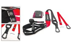 RED G-STRAP PRO Home Gym Fitness Trainer (6 COLORS) BEST QUALITY GUARANTEED, Resistance Suspension Workout Training, WARRANTY. BEST QUALITY ON MARKET: Custom Locking Carabiners & Rubber Grips-High Tensile Strength-Rivals $250 competitors for fraction of cost-100% Satisfaction-Join the team!. EASY SETUP GUIDE INCLUDED: Work out as soon as you get it! Each set includes an extension link, door anchor and drawstring carry bag!. PRODUCT EVOLUTION: We've been improving our products and…