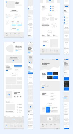 Many placeholders. Can see how scaling design will look Design Web, Sitemap Design, Layout Design, Web Design Mobile, Web Mobile, Custom Web Design, Website Design Layout, Portfolio Web Design, Web Layout