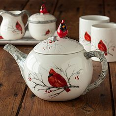 222 FIFTH Dinnerware in Winter Cardinal...I have this set ...