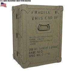 実物 新品 米軍トランスポートチェストwith 24ドロワーのご紹介です。  制式名称:CASE SET, TRANSPORT & STORAGE CASE NO 2