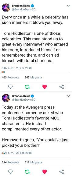 #TomHiddleston #Loki #Avengers: #InfinityWar (https://twitter.com/BrandonDavisBD/status/988253093472030722 )