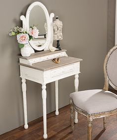 Look what I found on #zulily! Traditional French Mirror Accent Table by Baxton Studio #zulilyfinds