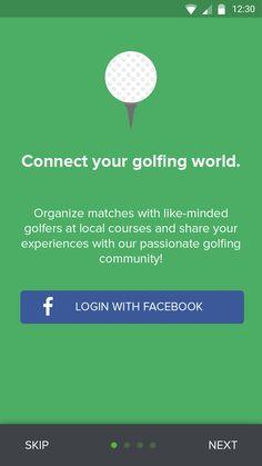 Golf app – MaterialUp