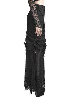 Shop Maxi Skirts - Black Sheath Mesh Statement Maxi Skirt online. Discover unique designers fashion at StyleWe.com.