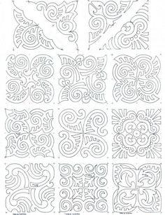 maori moko block set composite works for a soutache pattern tattoo pattern Maori Moko Blocks Motif Soutache, Soutache Pattern, Maori Designs, Diy Tattoo, Paper Embroidery, Embroidery Patterns, Art Maori, Maori Patterns, Hawaiian Quilts