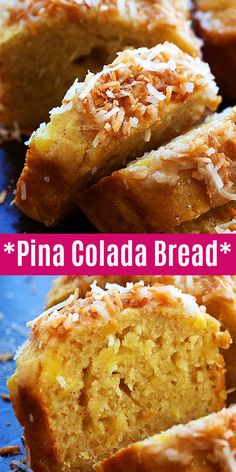 Pina Colada Bread - New Recipes on Rasa Malaysia - Brot Quick Easy Desserts, Quick Bread Recipes, Just Desserts, Dessert Recipes, Sweet Recipes, Fruit Bread, Dessert Bread, Pain Bagel, Pan Rapido