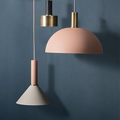 Autumn-winter 2016 collection from Ferm Living Cool Lighting, Modern Lighting, Lighting Design, Pendant Lighting, Pendant Lamps, Industrial Lighting, Lighting Ideas, Light Fittings, Light Fixtures